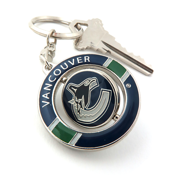 release date: 91238 34263 Spinner Keychain - Vancouver Canucks - Y8415-029